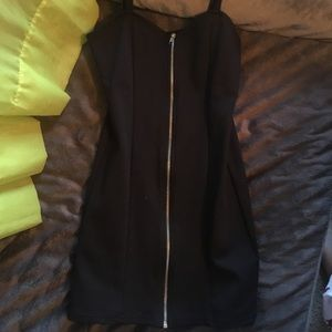 H&M zip front mini dress